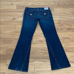 Women's Wide Legged True Religion Blue Jeans